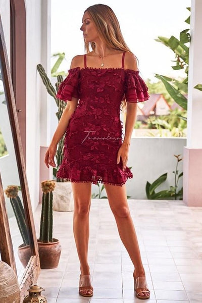 Beatrice Dress - Red - SHOPJAUS - JAUS