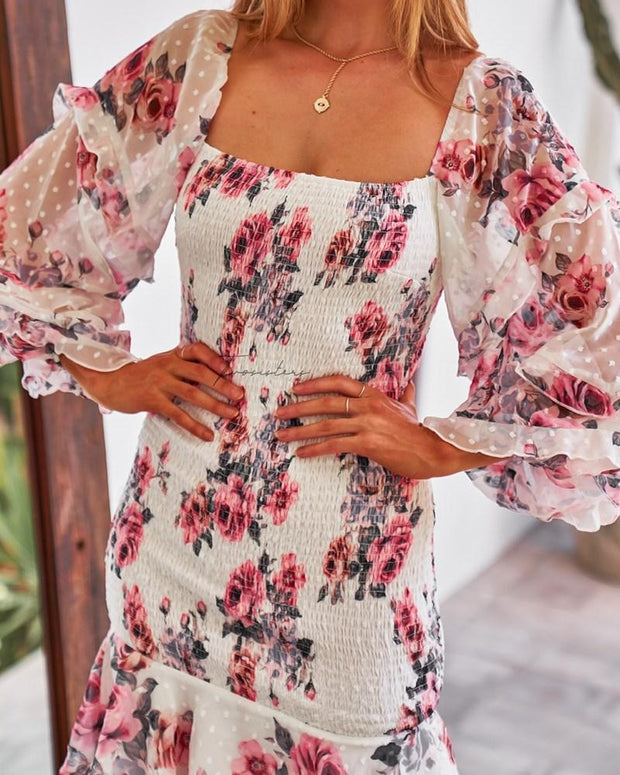 Gail Dress - Floral (PREORDER) - SHOPJAUS - JAUS