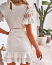 Monty Dress - White - SHOPJAUS - JAUS