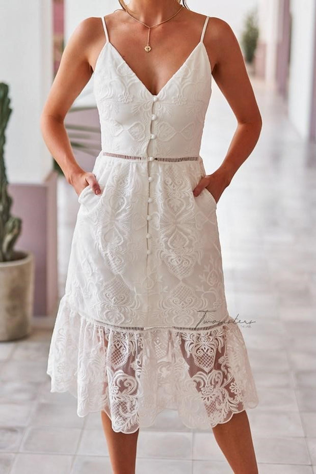 Adyna Dress - White - SHOPJAUS - JAUS