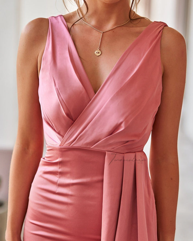 Goddess Dress - Pink - SHOPJAUS - JAUS