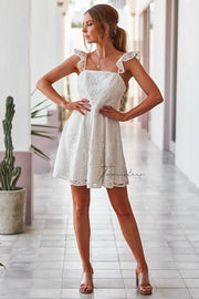 Tamica Dress - White - SHOPJAUS - JAUS