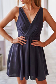 Tegan Dress - Navy - SHOPJAUS - JAUS