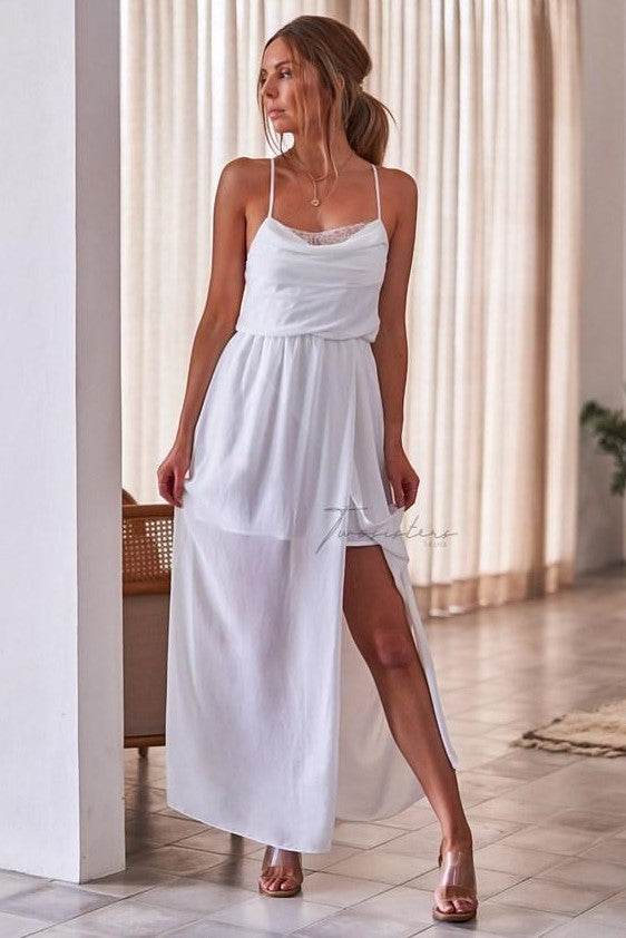 Jaycee Dress - White - SHOPJAUS - JAUS