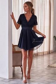 Stella Dress - Navy - SHOPJAUS - JAUS