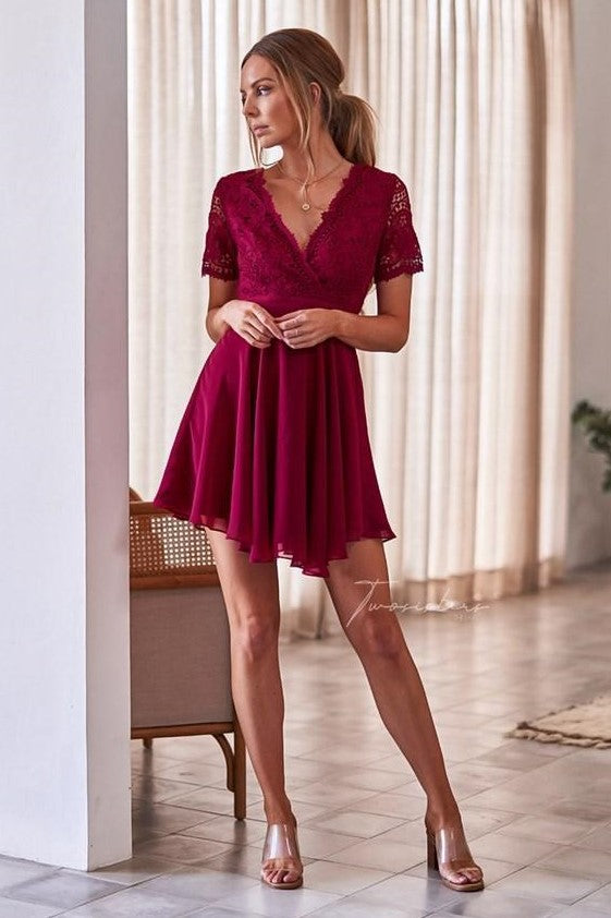 Stella Dress - Red - SHOPJAUS - JAUS