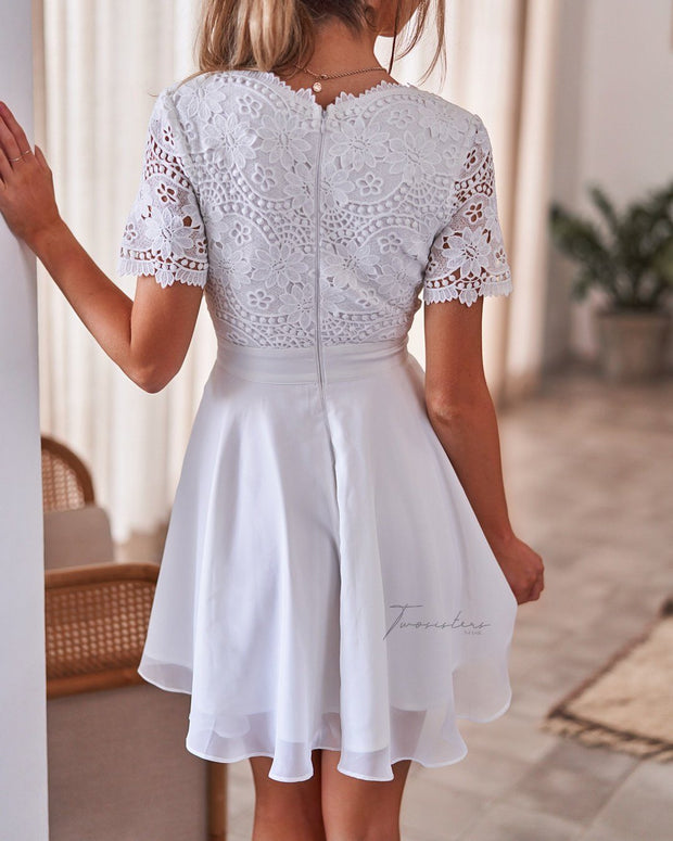 Stella Dress - White - SHOPJAUS - JAUS