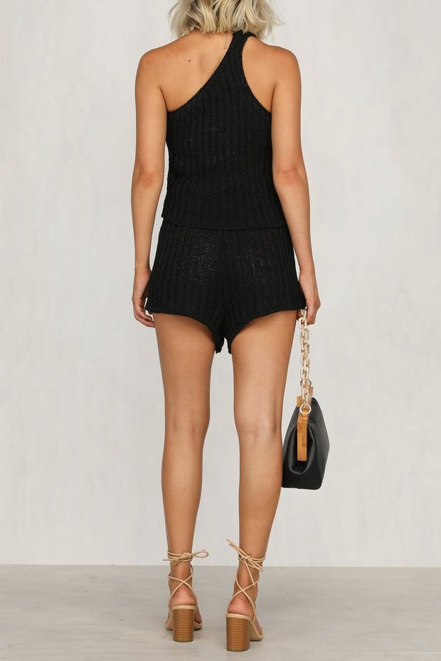 Alanis Knit Set - Black - SHOPJAUS - JAUS