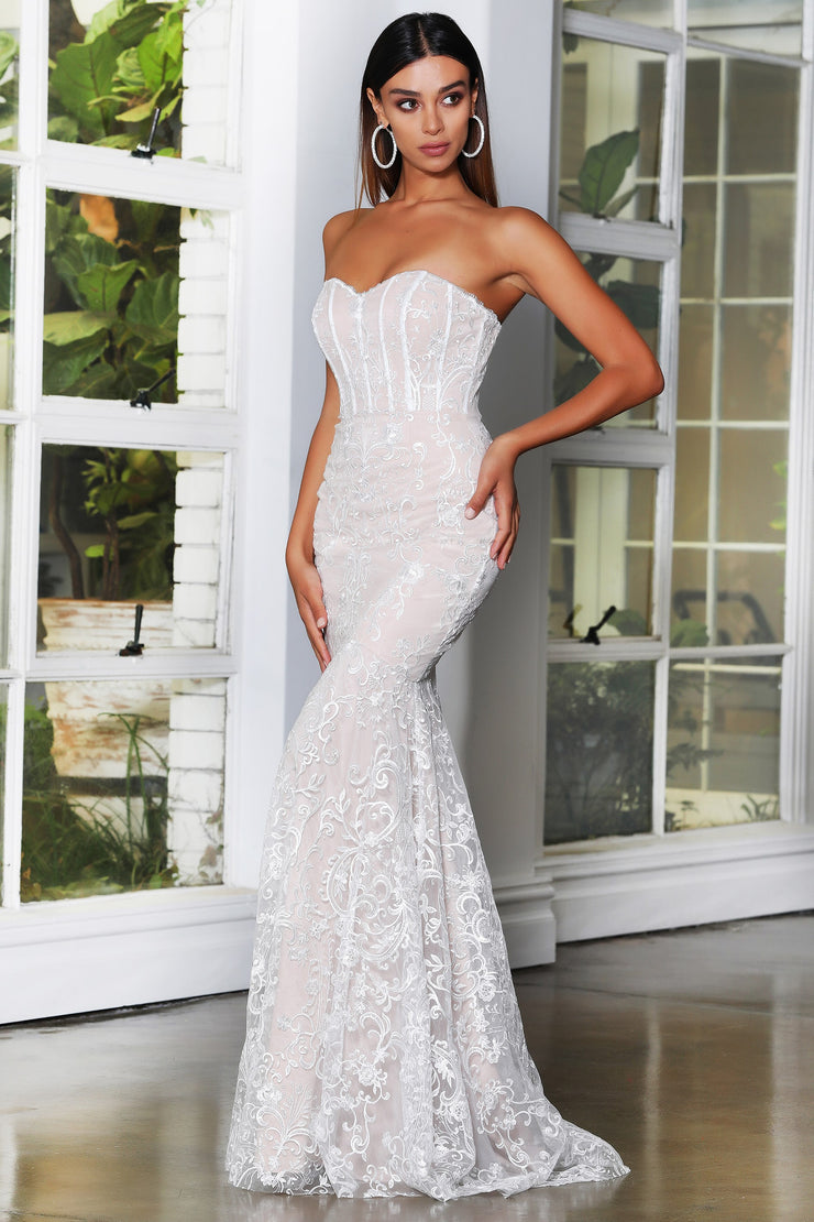 Ariella Gown - Ivory/Nude