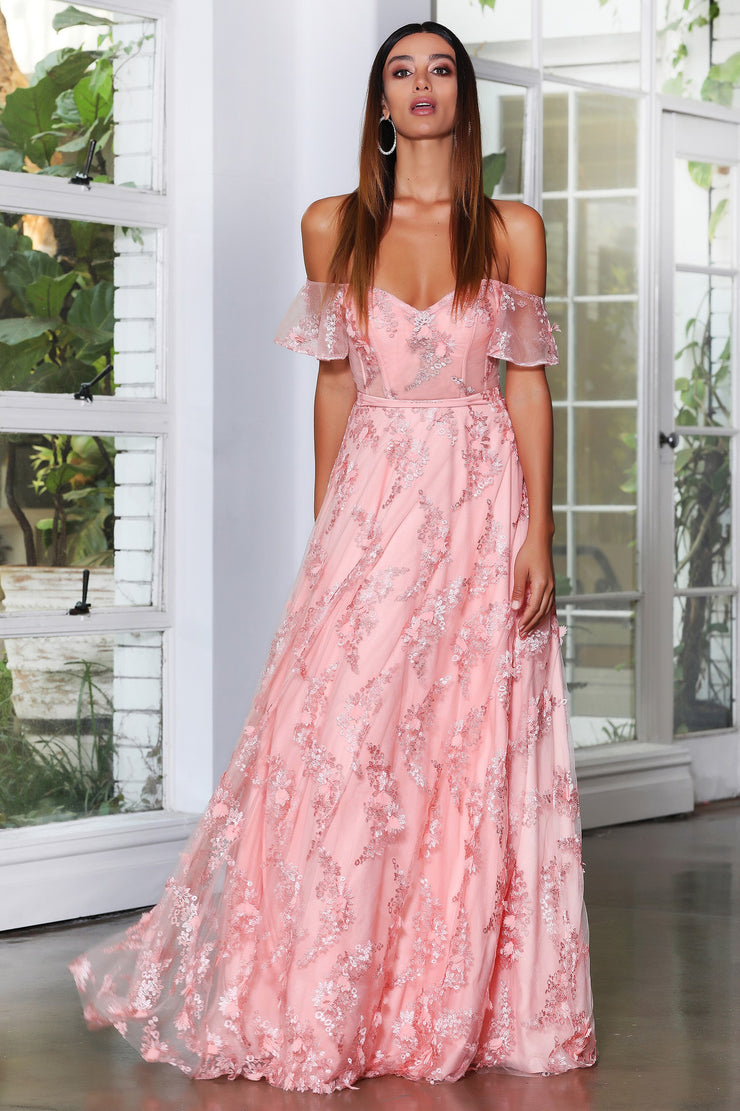 Enchanted Gown - Peach