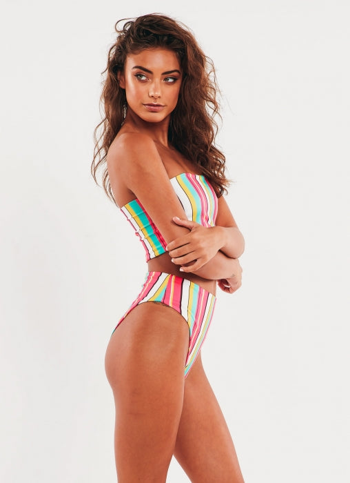San Marino Two Piece Bikini - Pink Stripe
