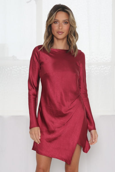 Sweet Sensations Dress - Wine