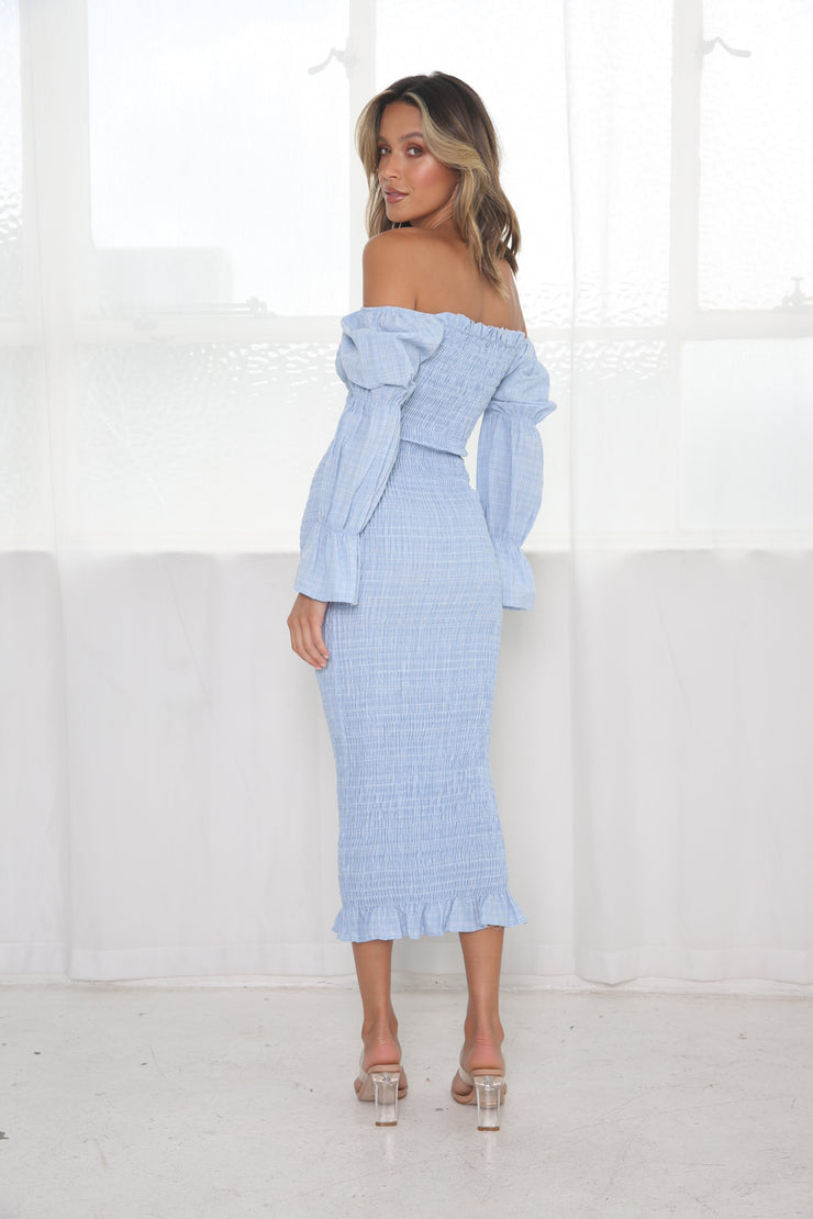 Grace Midi Dress - Baby Blue