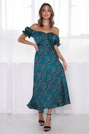 Samantha Dress - Green Leopard