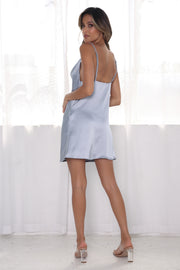Ira Mini Dress - Steel Blue