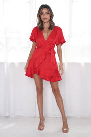 Almeria Dress - Red