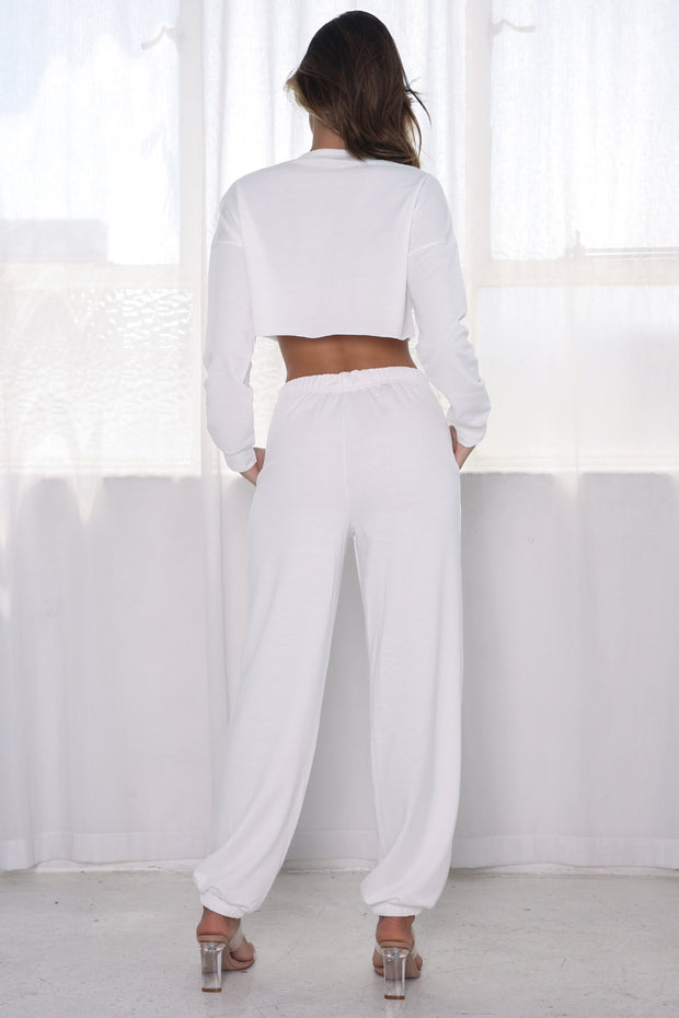 Michigan Two Piece Lounge Set - White