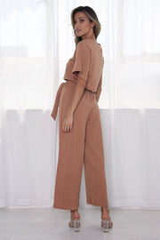 Monette Two Piece Set - Tan