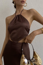 Carma Slip Skirt - Chocolate