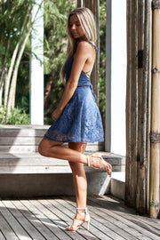 Tessie Dress - Steel Blue - SHOPJAUS - JAUS