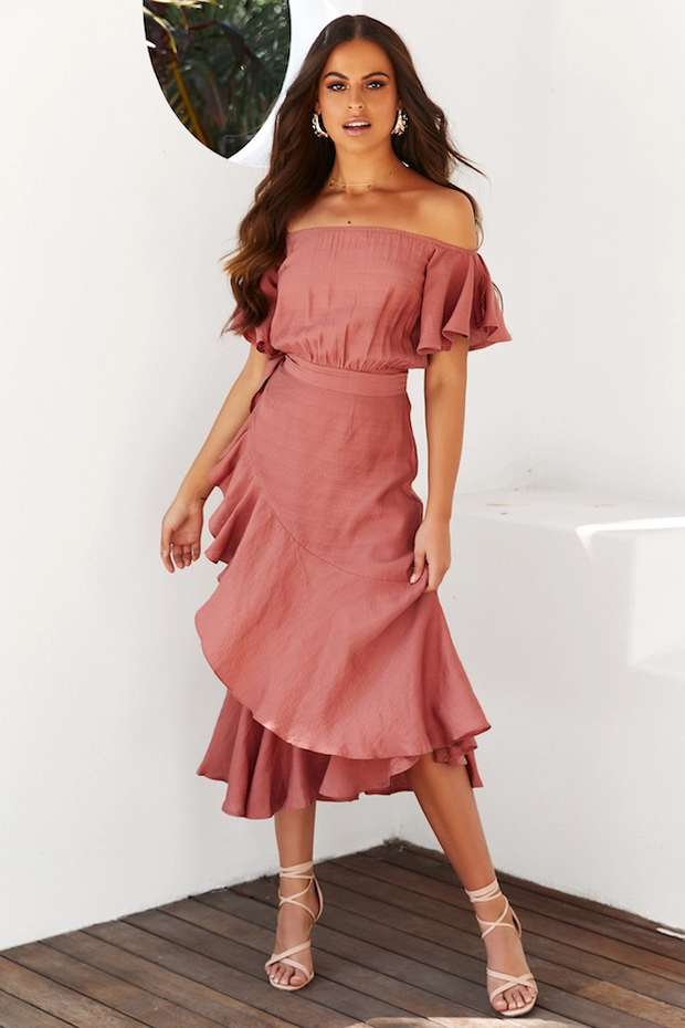 Dalila Dress - Rose - SHOPJAUS - JAUS