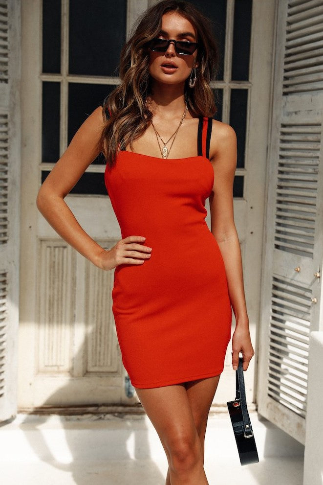 Madison Mini Dress - Red - SHOPJAUS - JAUS