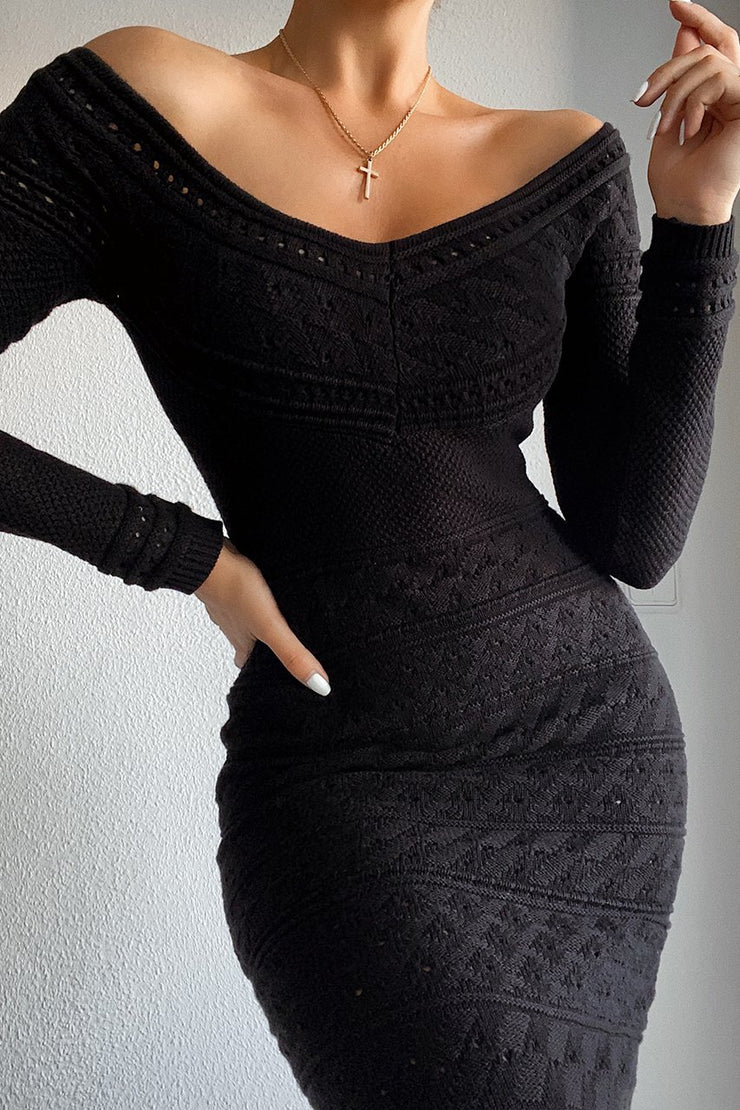 Stacey Knit Dress - Black