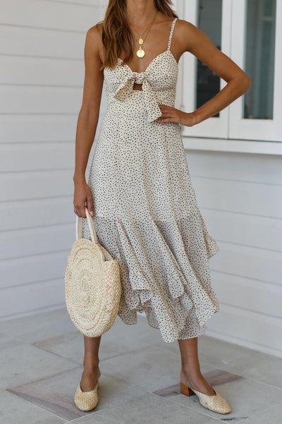 Malibu Maxi Dress - Beige - SHOPJAUS - JAUS