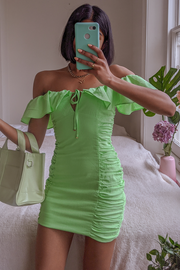 Capri Dress - Lime - SHOPJAUS - JAUS