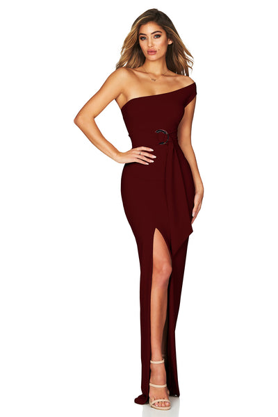 Nookie Alchemy Gown - Merlot - SHOPJAUS - JAUS