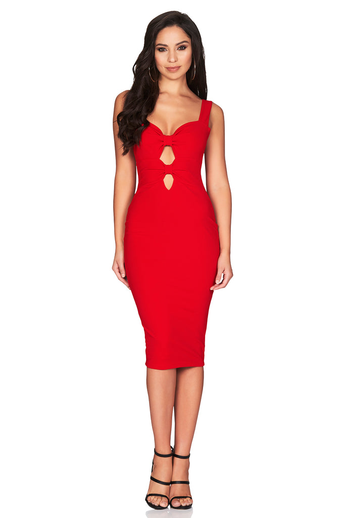 Nookie Alessandra Midi Dress - Red - SHOPJAUS - JAUS