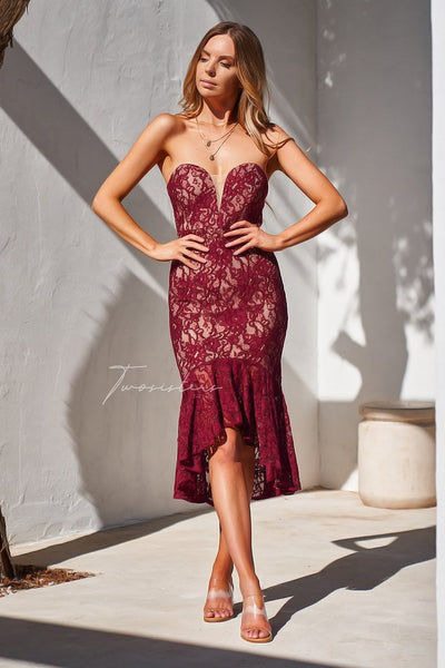 Amylia Dress - Red - SHOPJAUS - JAUS