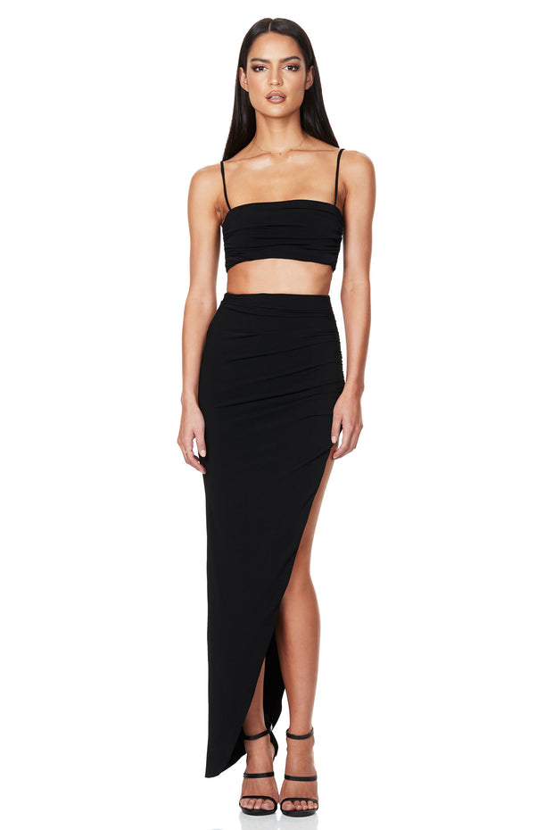 Nookie Aria Crop - Black