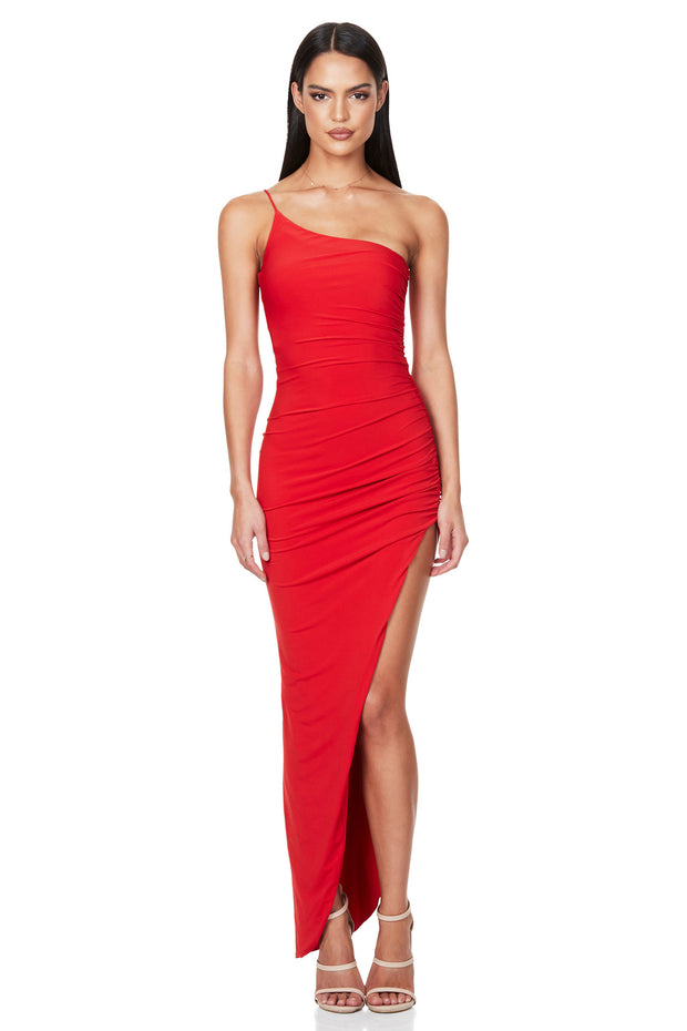 Nookie Aria One Shoulder Gown - Red (PREORDER)