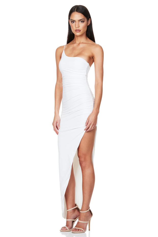 Nookie Aria One Shoulder Gown - White
