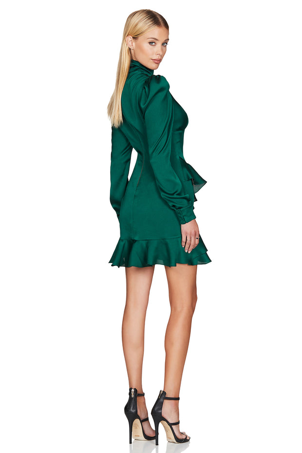 Nookie Ashton Long Sleeve Mini Dress - Emerald - SHOPJAUS - JAUS