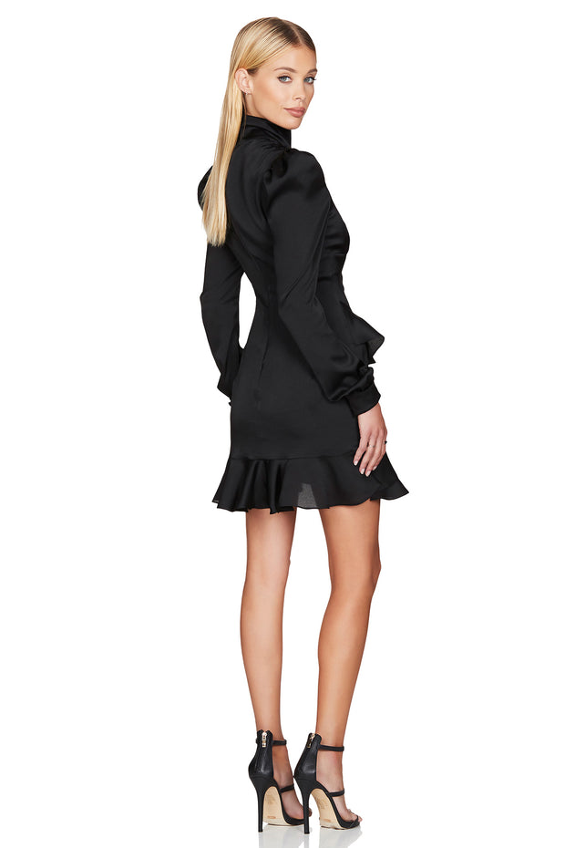 Nookie Ashton Long Sleeve Mini Dress - Black - SHOPJAUS - JAUS
