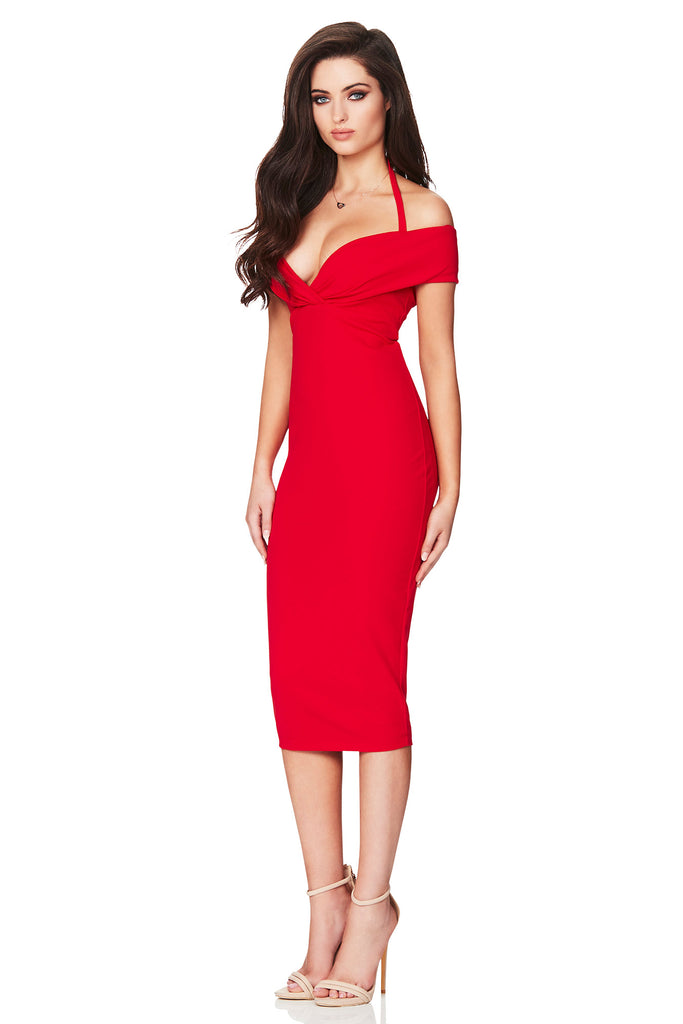 589408d1d4d9 ... Nookie Athena Off Shoulder Midi Dress - Red - SHOPJAUS - JAUS ...