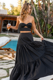 Leilani Maxi Skirt - Black