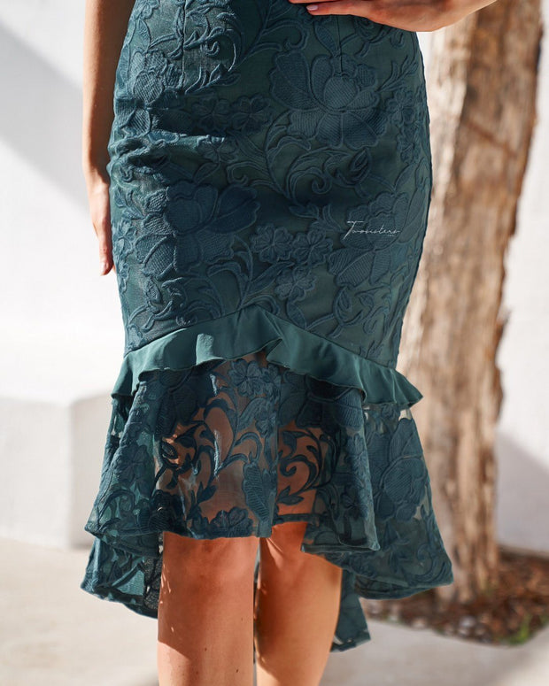 Abby Dress - Emerald Green - SHOPJAUS - JAUS