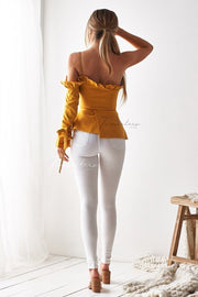 Ainsley Top - Mustard - SHOPJAUS - JAUS