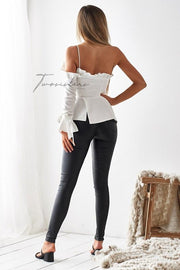 Ainsley Top - White - SHOPJAUS - JAUS