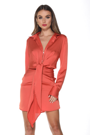Aja Mini Dress - Rust - SHOPJAUS - JAUS