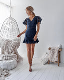 Alexia Dress - Navy - SHOPJAUS - JAUS