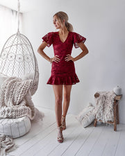 Alexia Dress - Red - SHOPJAUS - JAUS