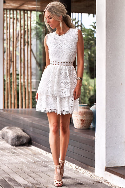 Angely Dress - White - SHOPJAUS - JAUS