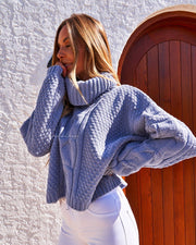 Aspen Knit Sweater - Blue - SHOPJAUS - JAUS