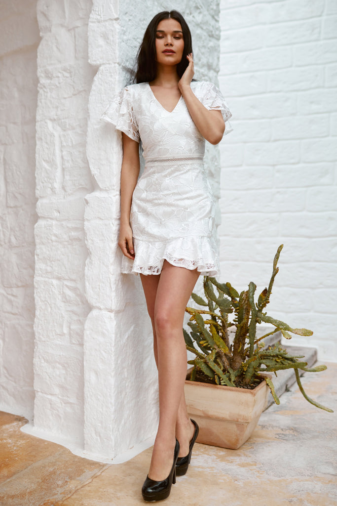 Alexia Dress - White - SHOPJAUS - JAUS