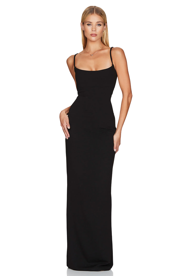 Nookie Bailey Gown - Black - SHOPJAUS - JAUS