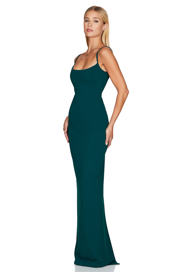 Nookie Bailey Gown - Teal - SHOPJAUS - JAUS